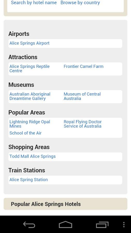 All Alice Springs Hotels - screenshot