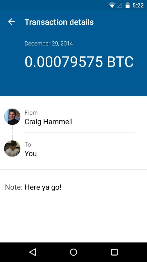 Bitcoin Wallet - Coinbase - screenshot