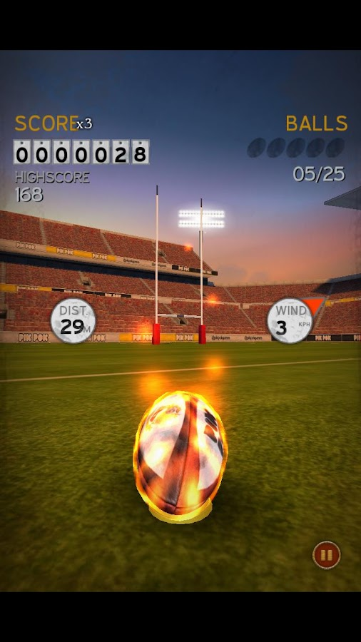 Flick Kick Rugby Kickoff- screenshot