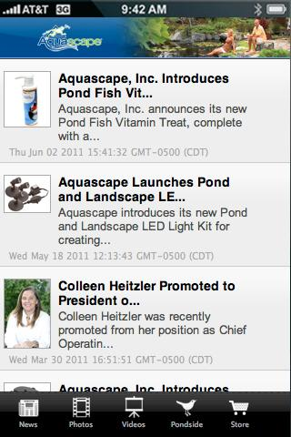 Aquascape Pond App - screenshot