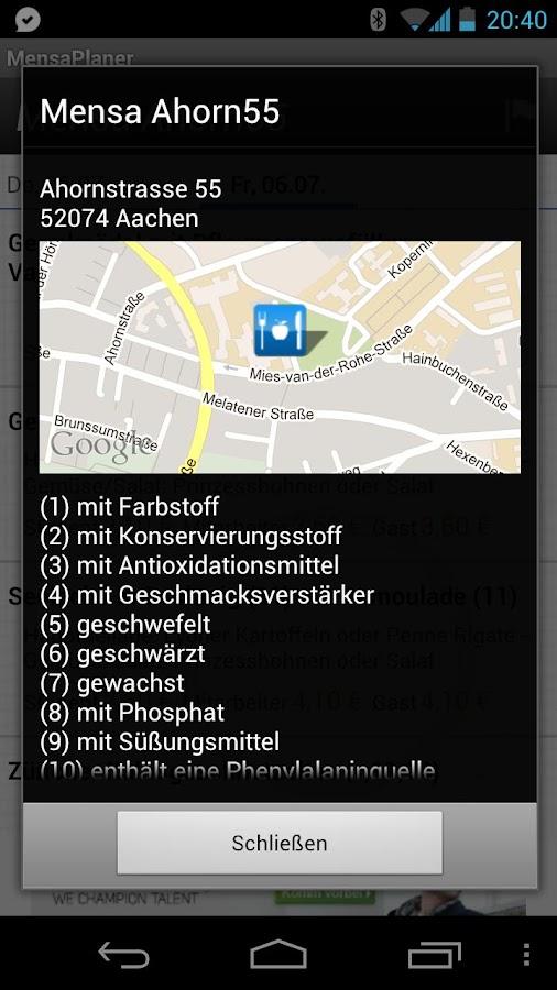 MensaPlaner- screenshot