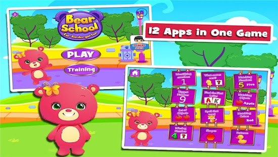 Bears' Fun Kindergarten Games- screenshot thumbnail
