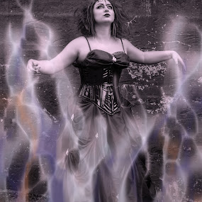Gothic Goddess Concept Art by Kimberly Arend Porter - Digital Art People ( flames, gothic, gorgeous, woman, modeling, witch, digital art, goddess )