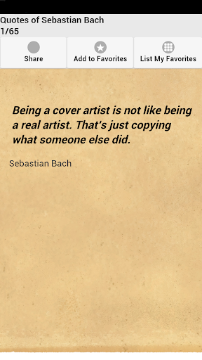 Quotes of Sebastian Bach