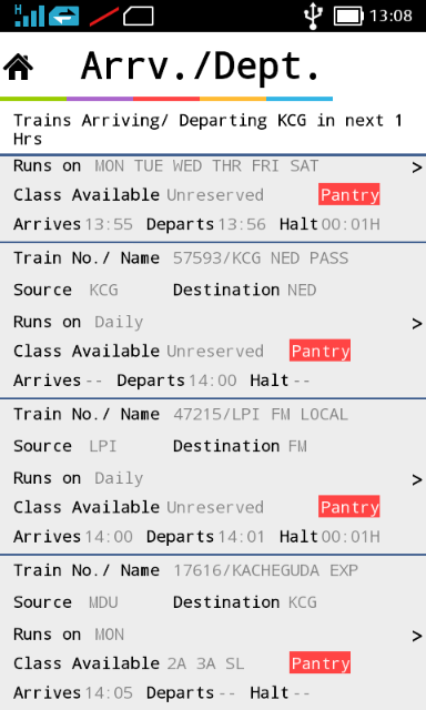 IRCTC ENQUIRY AND SMS BOOKING - screenshot