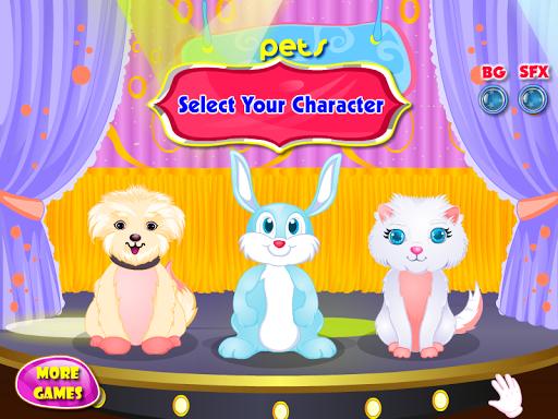 ペットのショーの女の子のゲーム