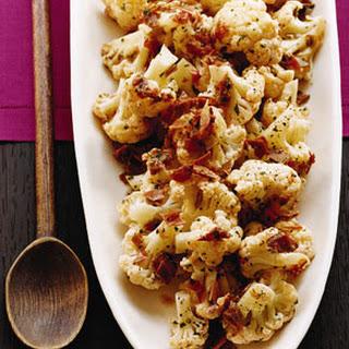 Cauliflower with Serrano Ham and Tomato
