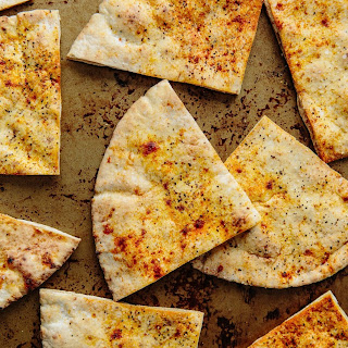 Crispy Garlic Pita Toasts