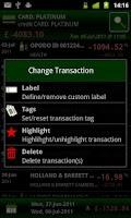 Screenshot of Bank Control UK Mobile Banking