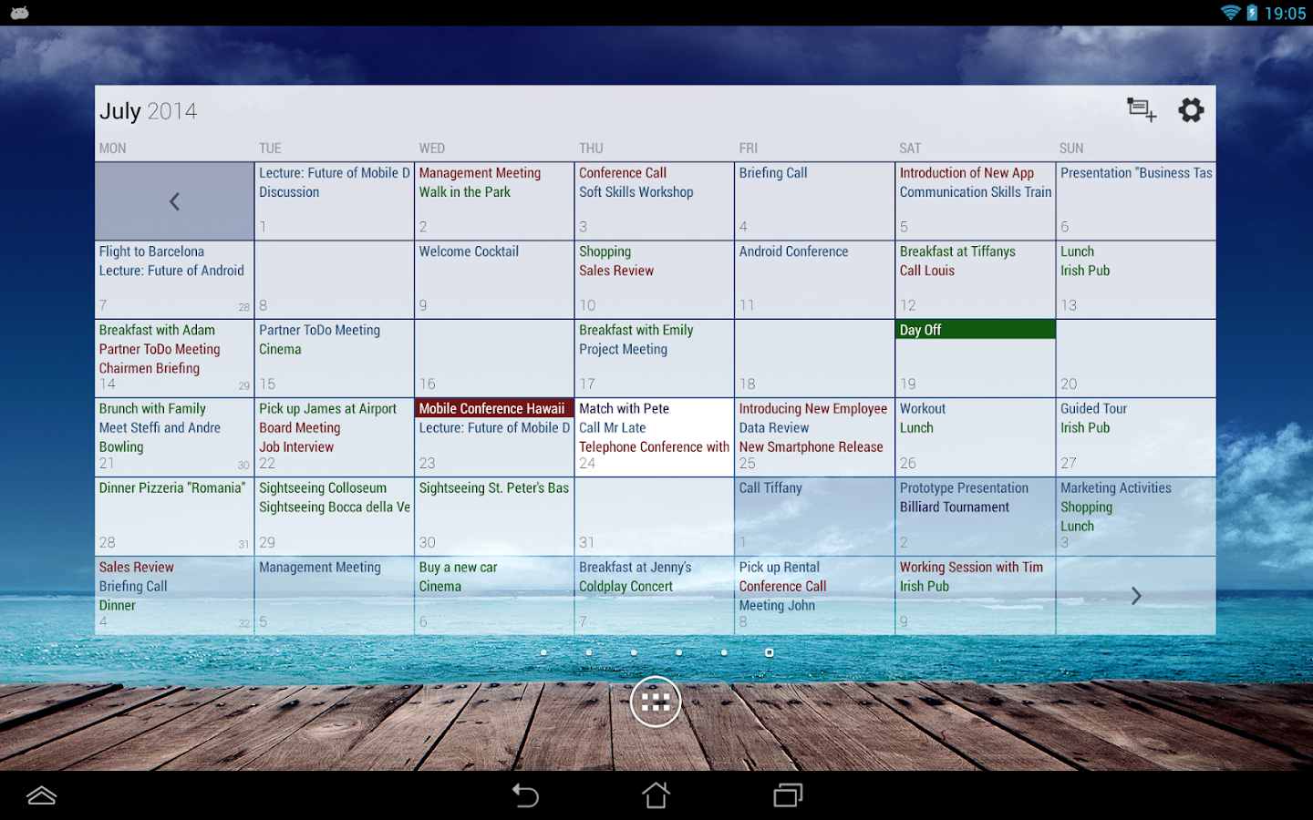 Business Calendar Pro- screenshot