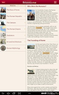 Britannica Kids: Ancient Rome - screenshot thumbnail