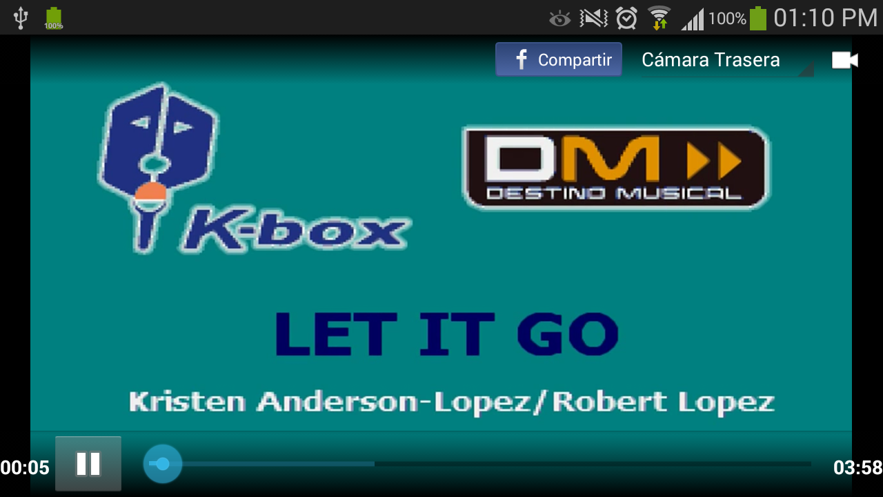 K-Box Karaoke: captura de pantalla