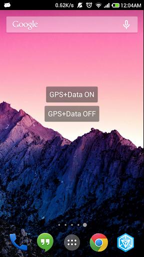 GPS + Data Switch Widget
