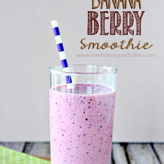 Banana Berry Smoothie.