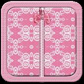 Pink Bow Lace Zipper Lock