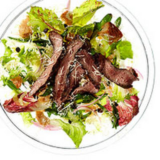 Steak & Chicory Salad with Fresh Horseradish.