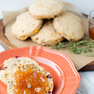 Whole Wheat Cranberry Cheddar Scones