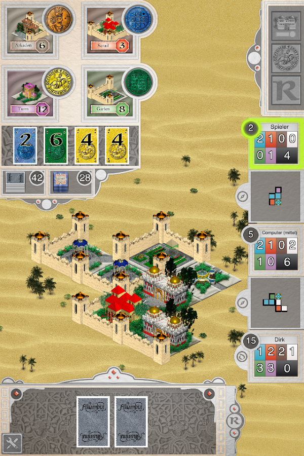 Alhambra Game- screenshot