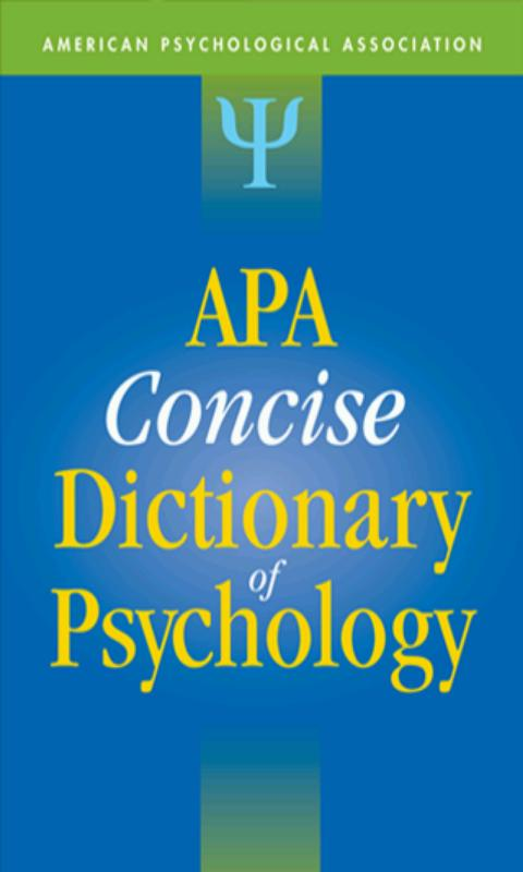 APA Concise Dictionary Free- screenshot