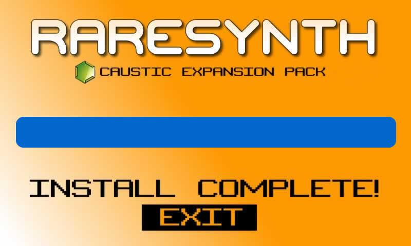 FREE CAUSTIC PACK 2 SYNTHKORDS - screenshot