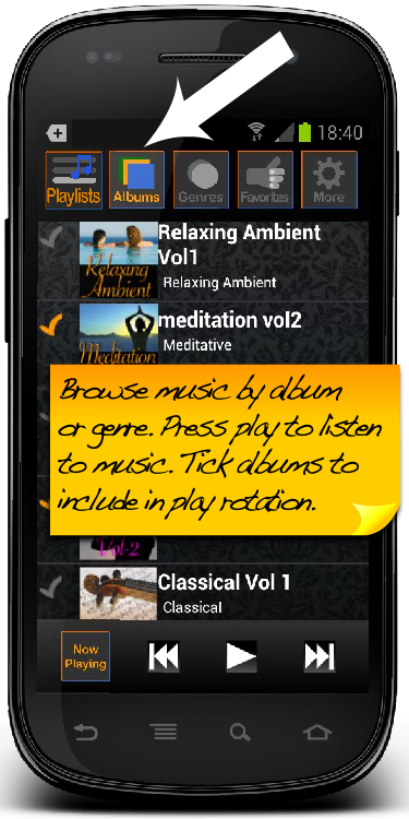 Background Music Player - screenshot