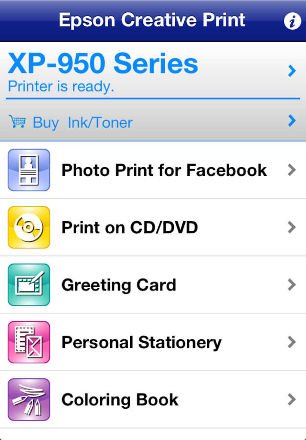 Epson Creative Print - screenshot