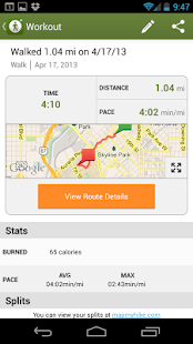 MapMyHike GPS Hiking - screenshot thumbnail