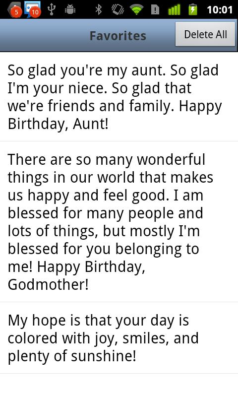 Birthday Messages- screenshot