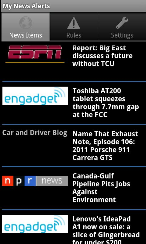My News Alerts - screenshot