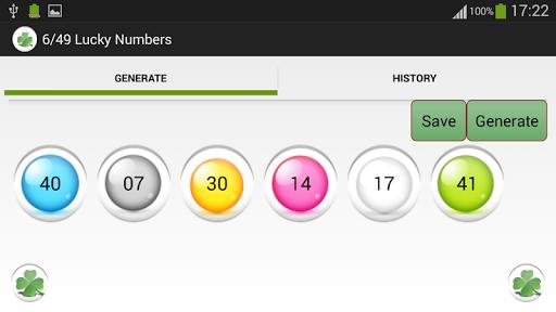 6/49 Lucky Numbers screenshots 1