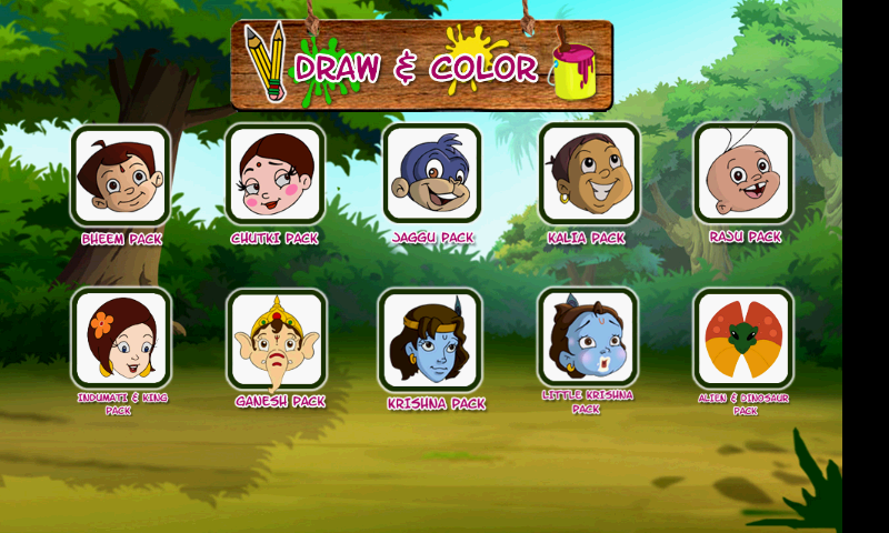 Draw & Color Chhota Bheem - Android Apps on Google Play