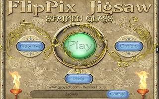 Screenshot of FlipPix Jigsaw - Stained Glass