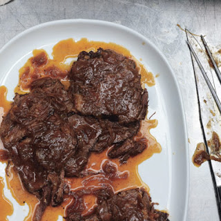 Beer-Braised Beef and Onions.