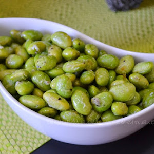 Edamame with Parmesan Cheese