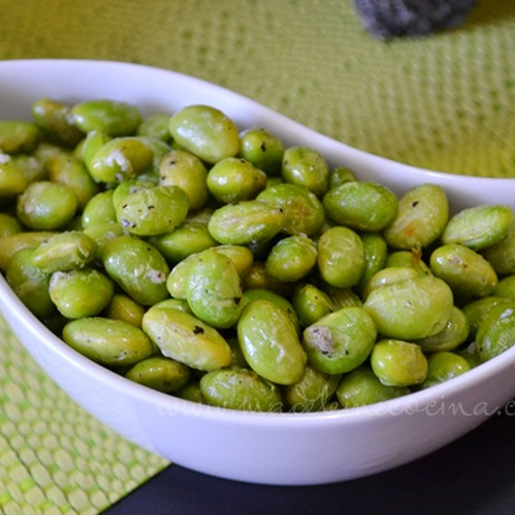 Edamame with Parmesan Cheese Recipe