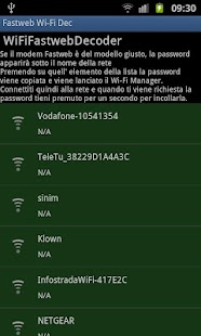 Fastweb Wi-Fi Decripter - screenshot thumbnail
