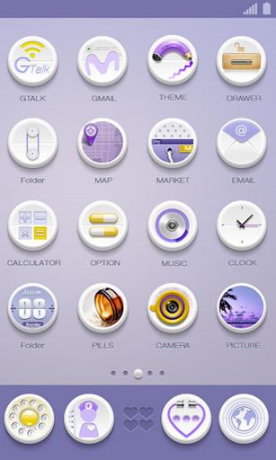 360手機桌面-白色小藥丸|玩個人化App免費|玩APPs