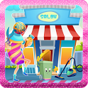 Hair salon cleaning games icon