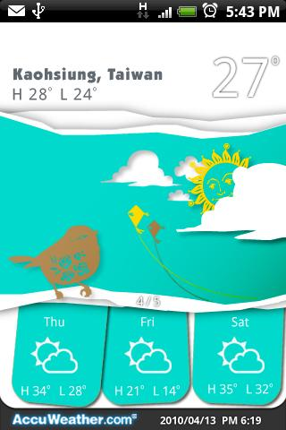 9s-Weather Theme+(PaperCut) - screenshot