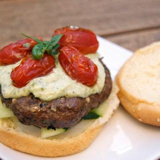 Feta-Basil Bison Burgers.