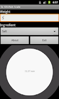 Screenshot of Kitchen Scale