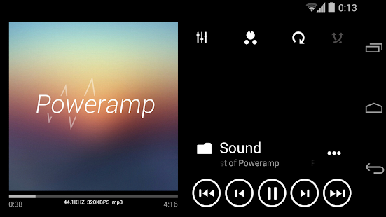Skin for Poweramp Metro UI- screenshot thumbnail