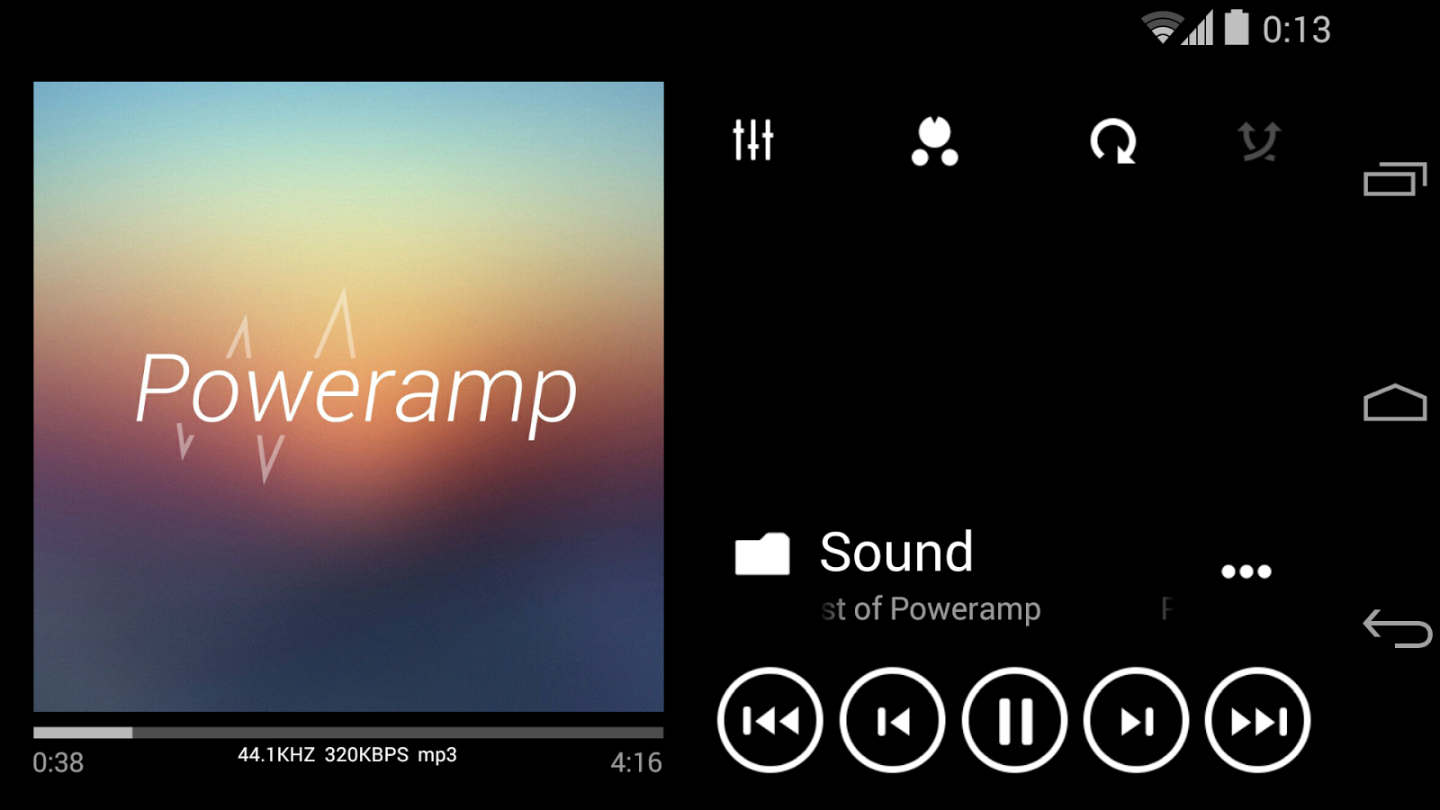Skin for Poweramp Metro UI- screenshot
