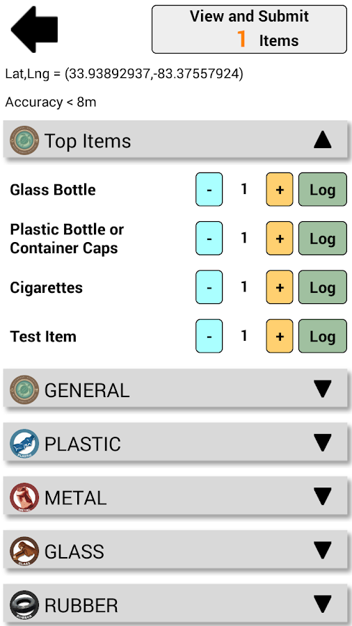 Marine Debris Tracker- screenshot