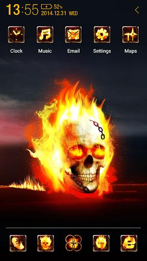 3D Burning skull アトム テーマ