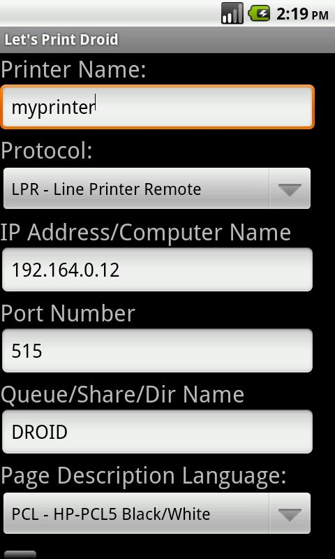 Let's Print Droid - screenshot