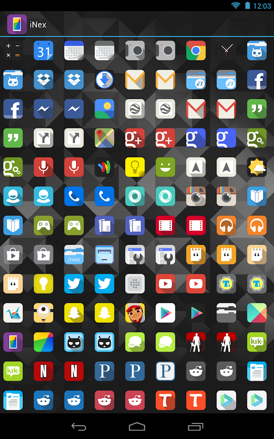 iNex Free/Trial - Icons - screenshot