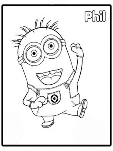 freekid minions coloring paint