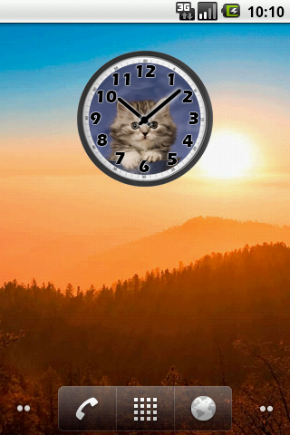 Sweet Cat Clock screenshots 2