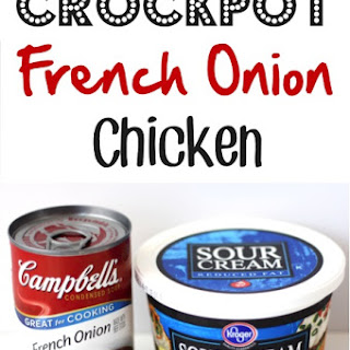 Crockpot French Onion Chicken.